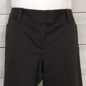 The Limited Drew Fit Chocolate Crop Dress Pants 10
